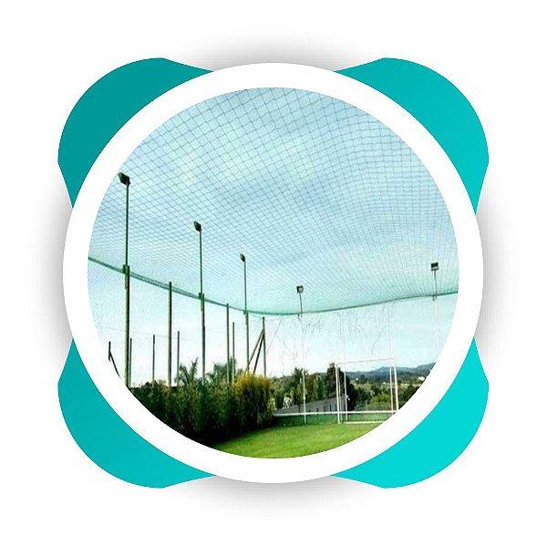 Rede de Proteção Esportiva Sob Medida para Cobertura de Quadra e Campo de Futebol Society Fio 2mm Malha 15cm Nylon
