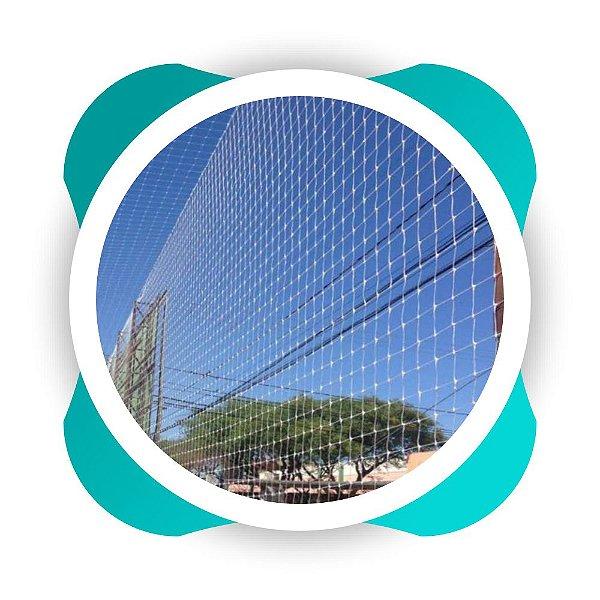 Rede de Proteção Esportiva  para Lateral e Fundo de Quadra de Futsal e Campo de Futebol e Society Fio 4mm Malha 8cm Nylon