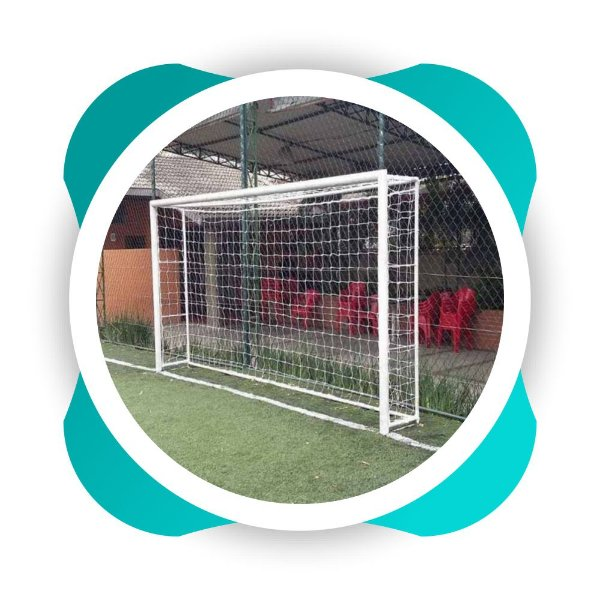 Par Rede Gol Futsal Fio 8 Malha 12 Modelo Mexico Futebol de salão