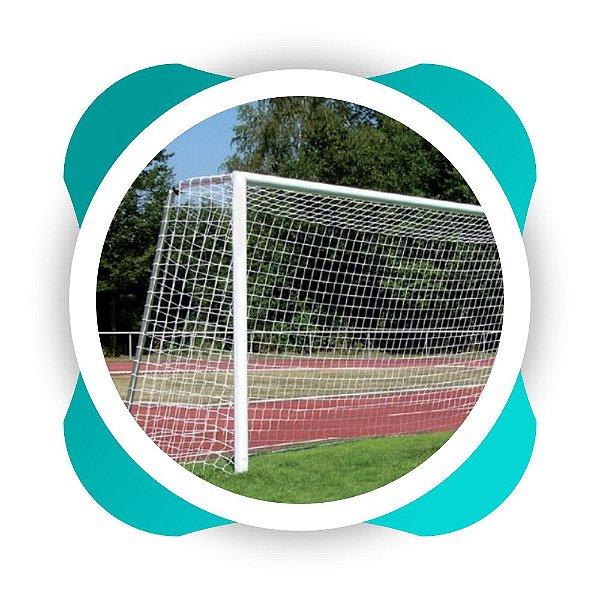 Par Rede Gol Futebol Campo Fio 6mm Tipo Véu  Nylon