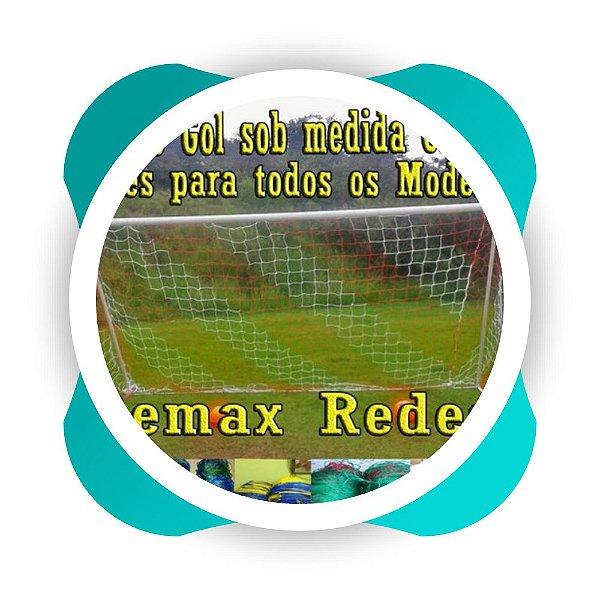 Rede de Gol Colorida Futebol Society no fio 4 mm   4.00 x 2.20 x 0.60 x 1.20 Nylon -VEU -  (PAR)