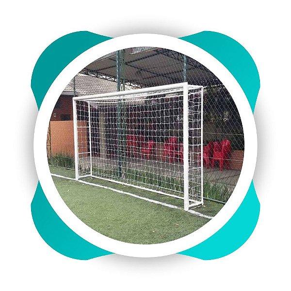 Par Rede Gol Futsal Fio 2 Malha 12 - nylon-  Modelo -Mexico