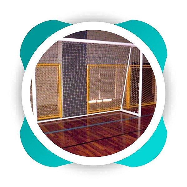 Par Rede Gol Futsal Fio 2 Malha 12 - nylon- Futebol de Salão