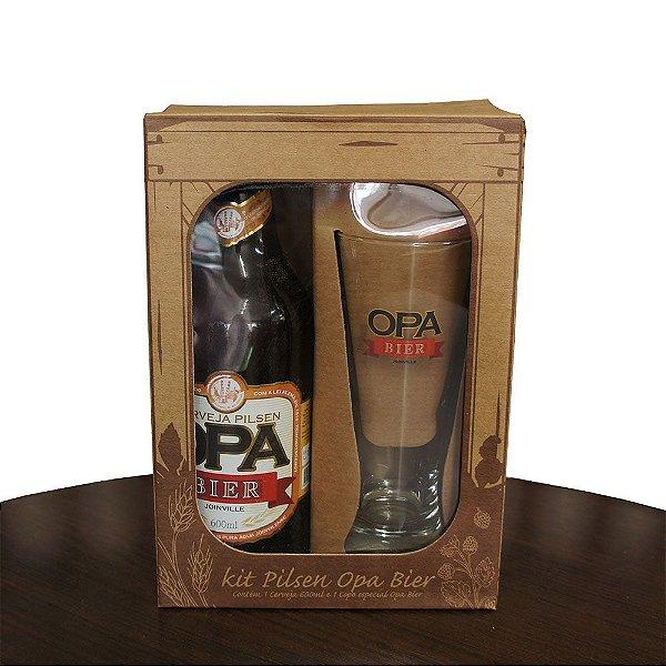 Kit Opa Bier 1 Cerveja Pilsen + 1 Copo Pilsen