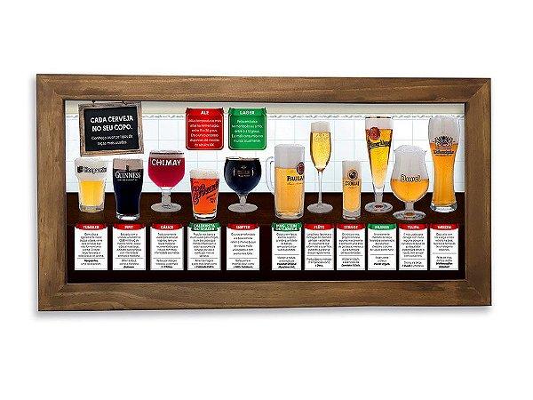 Quadro Decorativo Cada Cerveja no seu Copo 50x26cm