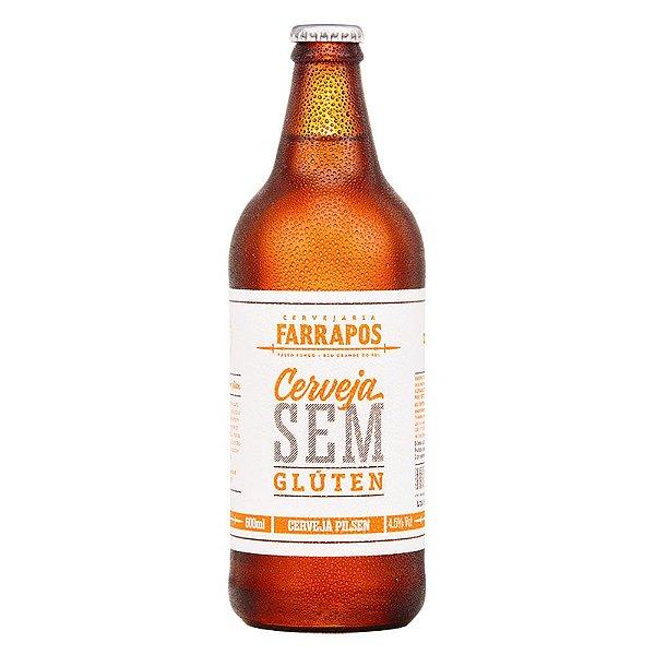 Cerveja Artesanal Farrapos Pilsen Sem Gluten Pilsen 600ml