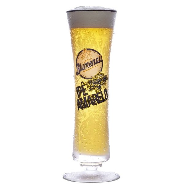 Copo de Cristal Cerveja Blumenau Ipe Amarelo 300ml