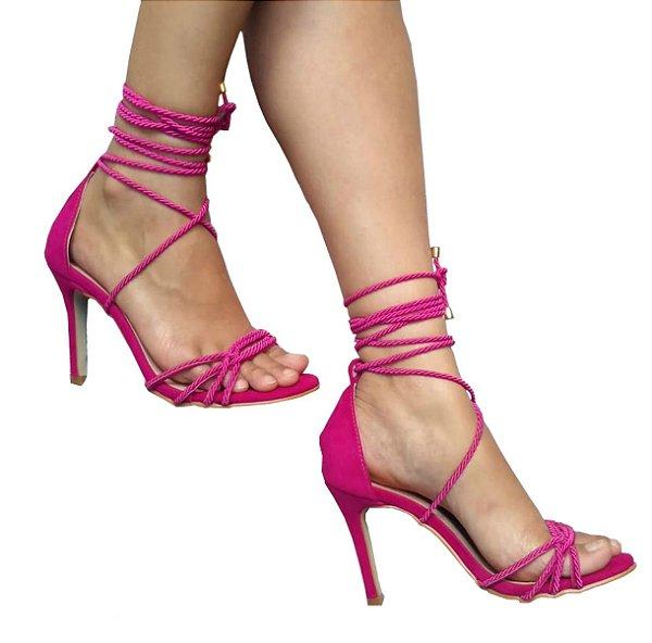 Sandália Feminina Rosa Pink Saints