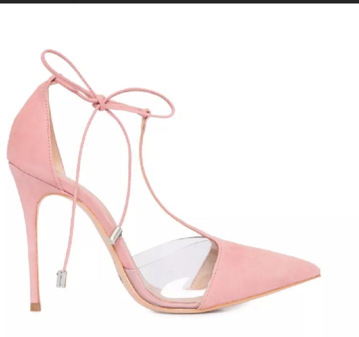 Sapato Feminino Scarpin Rosa Laccio on