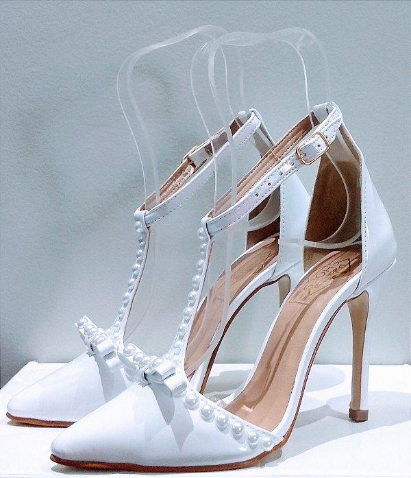 Sapato Feminino Scarpin Pérolas