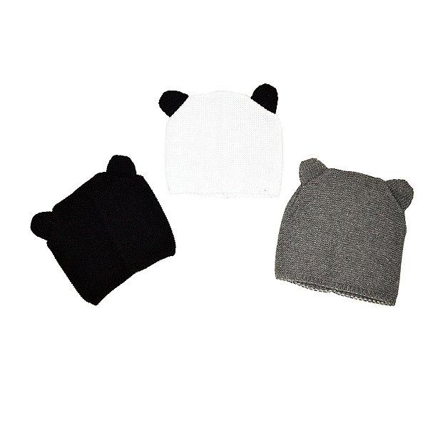 Touca tricô urso