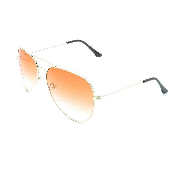 Óculos Solar Prorider Prata Com Lente Degradê Laranja - T3026C1