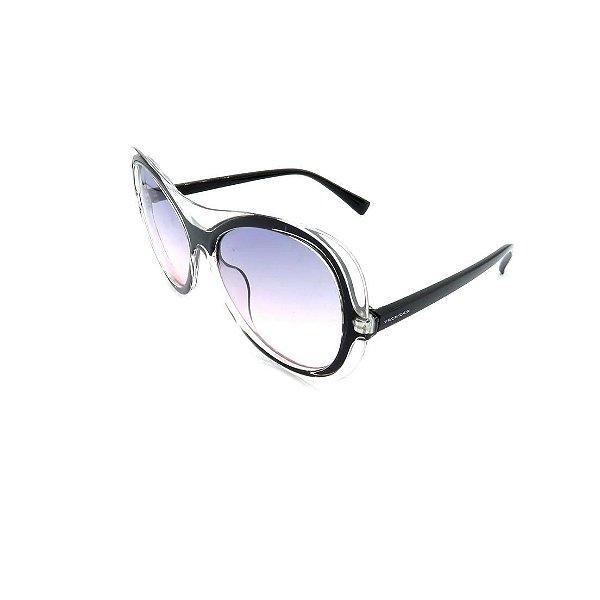 Óculos de Sol Prorider Retrô Preto e Transparente -  S8761-56