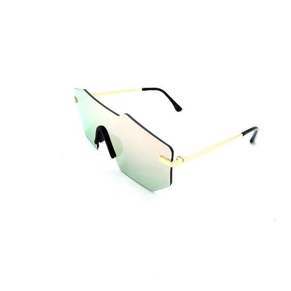Óculos Solar Prorider Dourado Com Lente Espelhada Colorida - COL17118-2