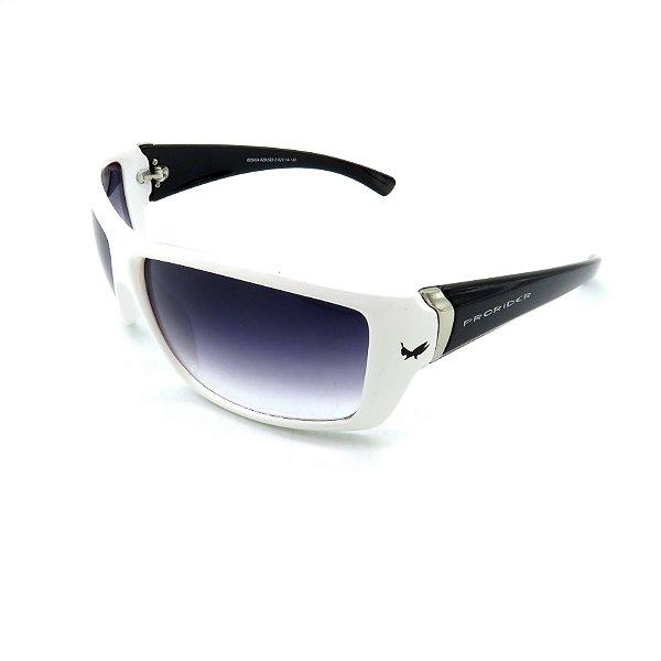 Óculos De Sol Prorider Retrô Preto e Branco com Lente Degradê Fumê - B05024-829