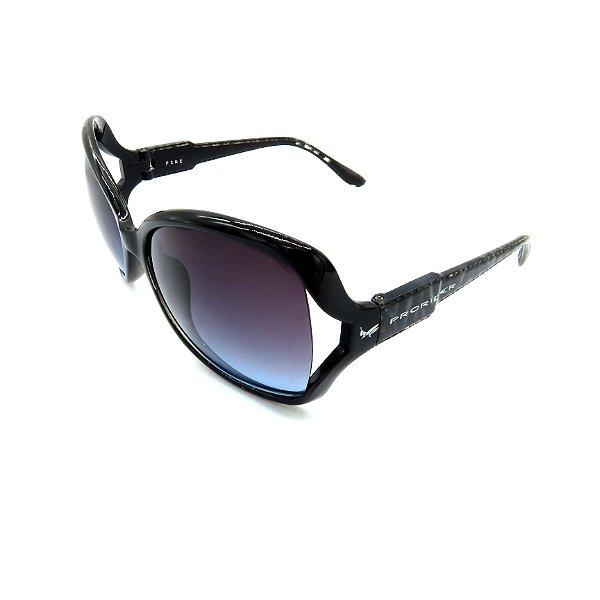 Óculos Solar Prorider Retrô Preto Com Lente Degradê - F1-RE