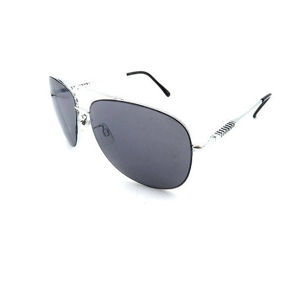 Óculos Solar Prorider Prata Detalhado Com Lente Fumê  - B88-84