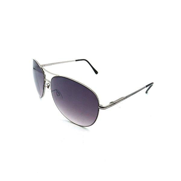 Óculos Solar Prorider Prata Detalhado Com Lente Fumê  - B88-86