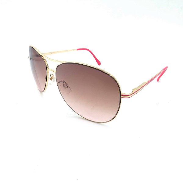 Óculos Solar Prorider Dourado Detalhado Com Lente Degradê Marrom  - B88-141