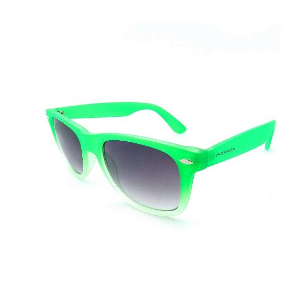 Óculos de Sol Prorider Retrô Degradê Verde e com Lente Degradê Fumê - B88-1109-1