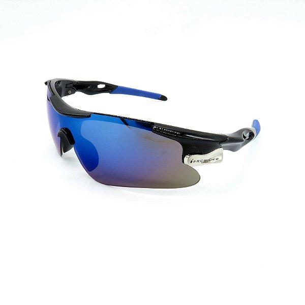 Óculos de Sol Prorider Esportivo Preto com Lente fumê - 9206
