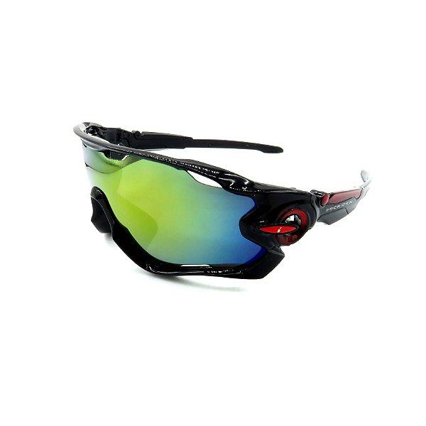 Óculos de Sol Prorider Esportivo Preto  com Lente fumê - 9279