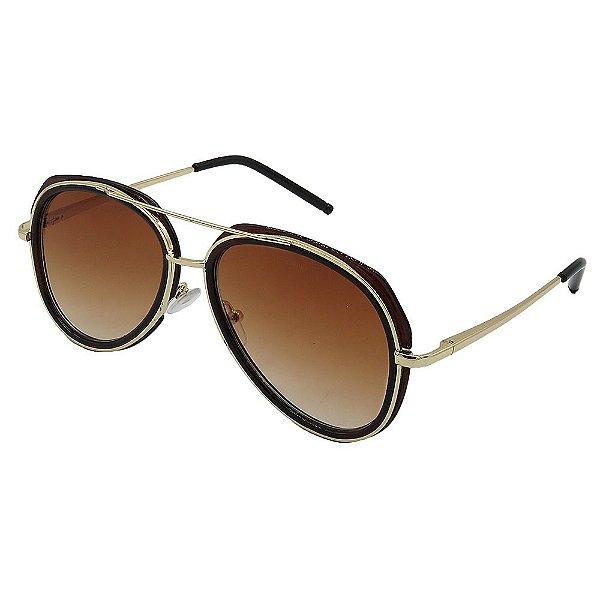 Óculos de Sol Infantil ZJim Metal Aviador Marrom