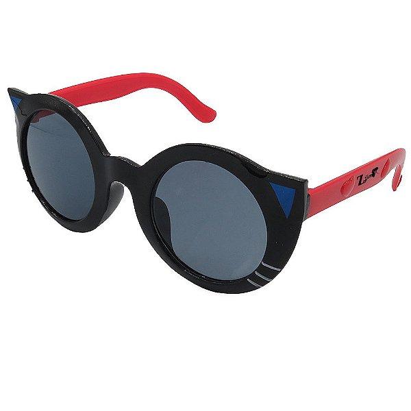 Óculos de Sol Infantil ZJim  Gatinho Preto e Vermelho