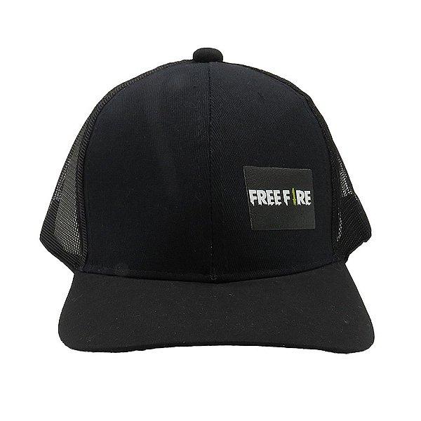 Boné Infantil Zjim Free Fire Preto