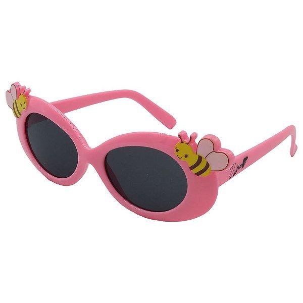 Óculos de Sol Infantil Zjim Arredondado Abelhinha Rosa
