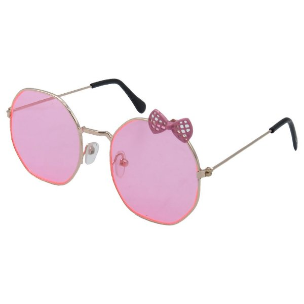 Óculos Infantil Zjim em Metal Monel® Retangular Rosa