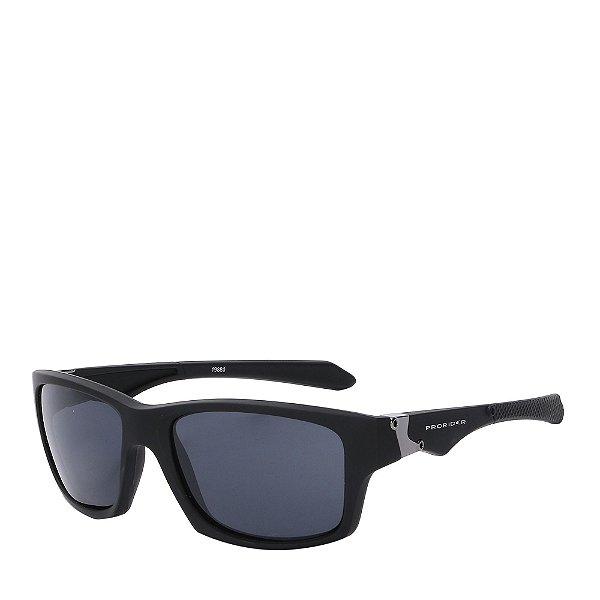 Óculos Solar Prorider Quadrado Preto&Prata - 19880-1