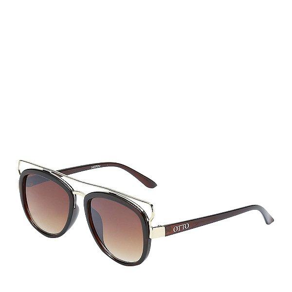 Óculos Solar Otto marrom e e dourado - DEEPEN