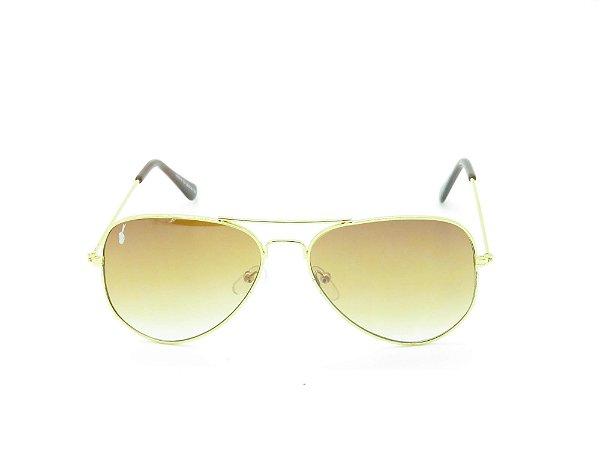Óculos de Sol Prorider Dourado com Lente Degradê - 3891