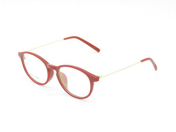 Óculos Receituário Prorider Vermelho com Dourado - B6039