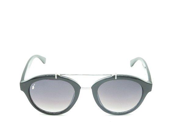 Óculos de Sol Prorider Preto Fosco e Dourado Com Lente Degradê