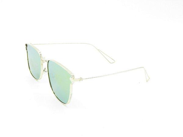 Óculos de Sol Prorider Dourado com Lente Espelhada Colors - 4966