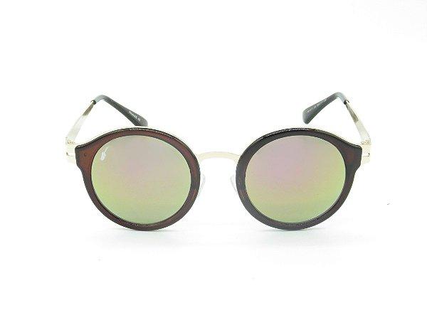 Óculos de Sol Prorider Marrom com Lente Espelhada Colors - 4978