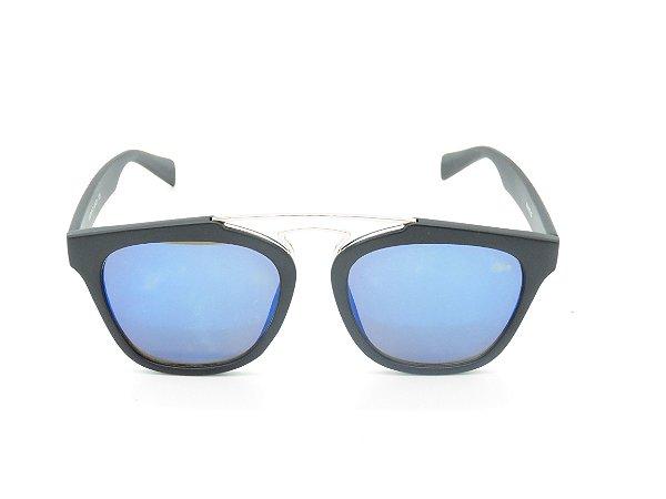 Óculos de Sol Prorider Preto Fosco com Lente Espelhada Azul - 4988