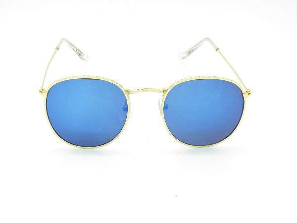 Óculos de Sol Prorider Dourado com Lente Espelhada - 5198