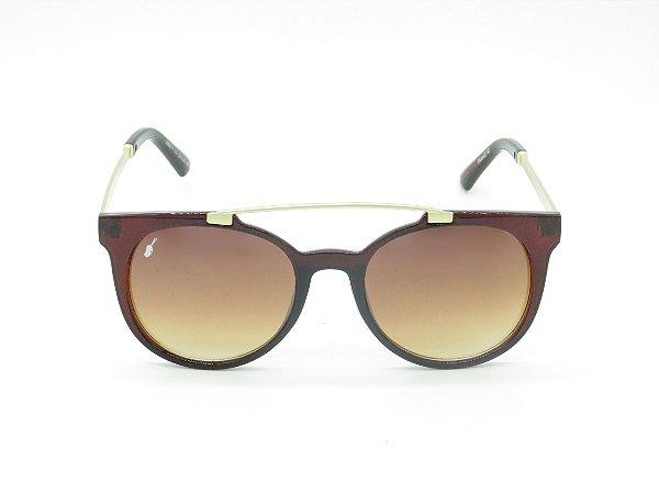 Óculos de Sol Dourado e Marrom Prorider - 5218
