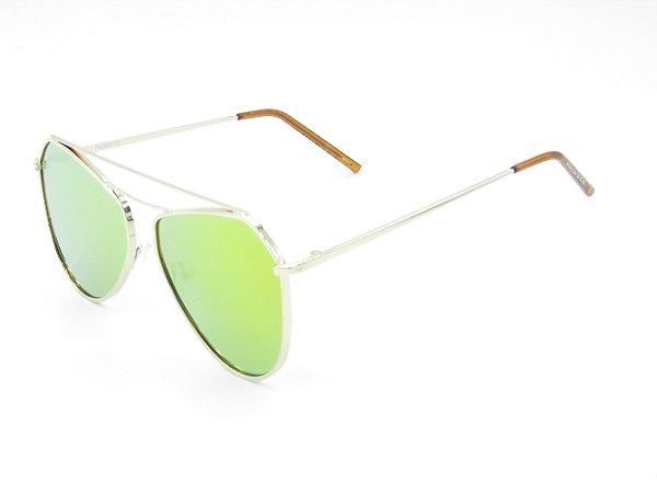 Óculos de Sol Prorider Dourado com Lente Espelhada Colors - 5228
