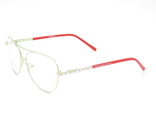 Óculos de grau Prorider branco com vermelho 5243
