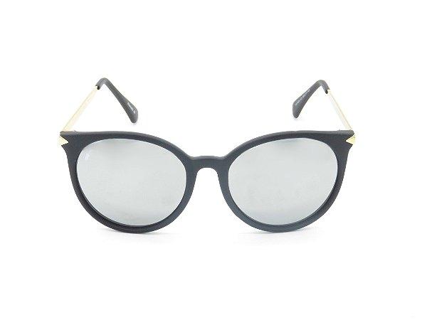 Óculos de Sol Prorider Preto com Lente Espelhada Prata - 5269