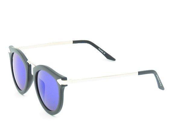 Óculos de Sol Prorider Preto Fosco com Lente Espelhada - 5276