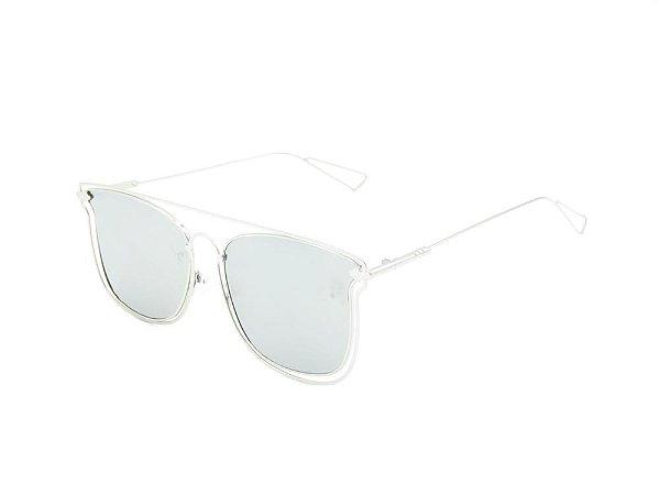Óculos de Sol Prorider Prata com Lente Espelhada Prata - ATENAS
