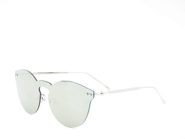Óculos de Sol Prorider Prata com Lente Espelhada Prata - FY8041