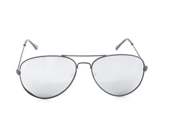 Óculos de Sol Prorider Preto com Lente Espelhada Prata - H03026C4