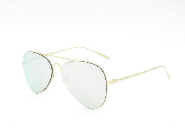 Óculos solar Prorider dourado com lente espelhada prata TG556