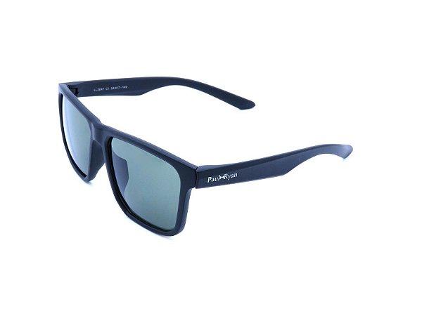 Óculos de Sol Paul Ryan Preto com Lente Verde - LL3047C1